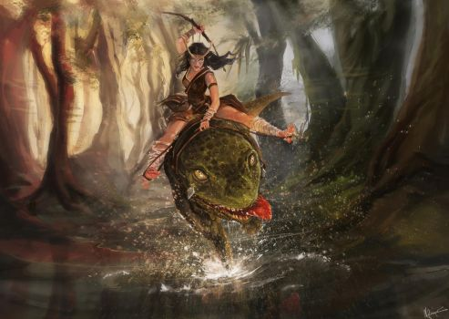 Riding The Darting Guar by nfouque
