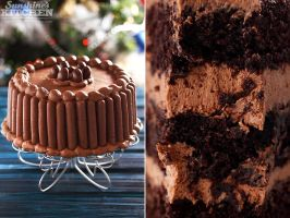 Chocolate cake by kupenska