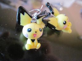 pichu earrings by MagicalMegumi