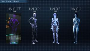 Halo 4 - Evolution of Cortana by Lopez-The-Heavy