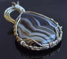 Striped Agate Drop by oasiaris