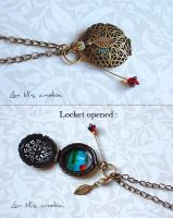 Jewelry : poppies Locket. by Lore-M