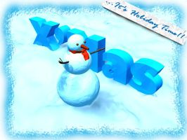 CHRISTMAS SNOWMAN03 by kevinandy