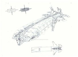 2nd Imperium Carrier concept (Terence Pegasus) by WildSpaceSaga