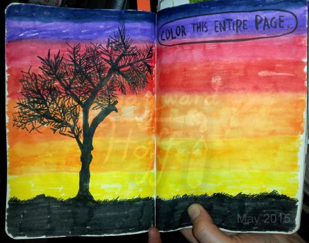 Wreck this journal - Colour this entire page by kiera-oona