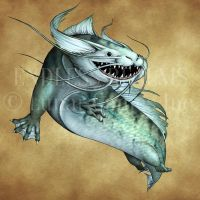 Endless Realms bestiary - Catfish by jocarra