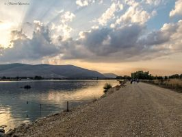 Last lights on the reservoir 2 by ShlomitMessica