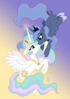 MLP FIM - Princess Luna Celestia finish by Joakaha