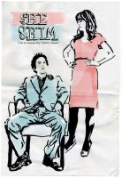 She and Him Poster by baskervillain