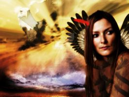 Eagle Woman by ArtisnotanAccident