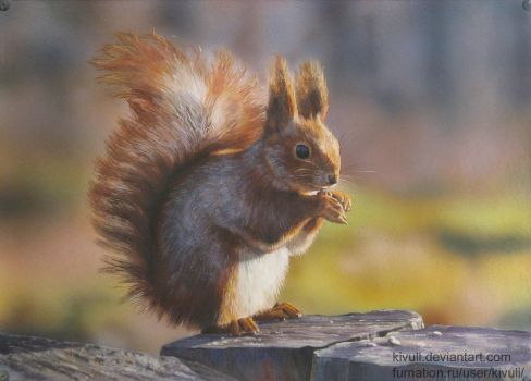 Squirrel painting by Kivuli