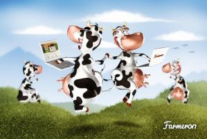 Farmeron happy cows TZ Deviantom by DeviArTZ