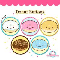 Donut Buttons by sweetsurprises