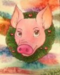 Christmas Pig by paigehebert1967