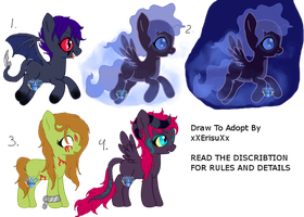 DTA Creepy ponies (CLOSED WINNERS FOUND) by ErisuAdopts