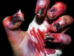 Zombierific nails by CurlyZombie