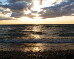 On the shore of Lake Erie by SolStock