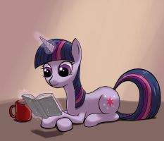 Twilight Sparkle reading a book by dannylim86