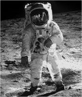 Neil Armstrong Paint By Number Art Kit by numberedart