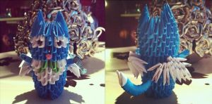 3D Origami: Happy (Fairy Tail) by StaticCatnip