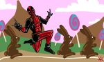Deadpool in the Land of Chocolate by TheButterfly