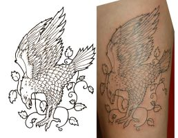 eagle tattoo stage 1 by yayzus