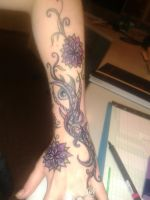 Sharpie tattoo purple passion by Scarlettvoodoo