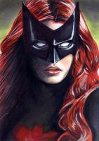 Batwoman Sketch Card 1 by veripwolf