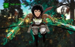 I will protect you Eren - Attack On Titan Final by jade-arts