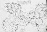 SSJ2 GOKU VS MAJIN VEGETA by MALIKISVENGEANCE