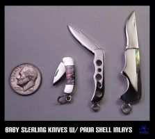 Sterling baby knives by Dans-Magic