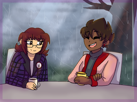 Coffee on a Rainy Day by aronora