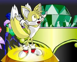 Tails got all Super Emeralds by Chaos-Le-Mieux