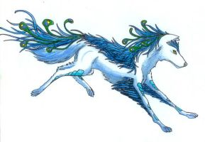 Feathered Wolf by GoldenDragon93