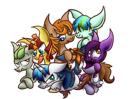 Pile Of Ponies Header! by Digital--Quill