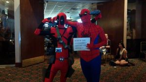 AniMinneapolis 2012-Deadpool and Spiderman by sonicrocker