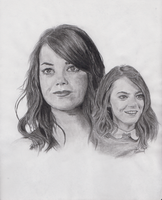 Emma Stone Charcoal by HarrisonOdell