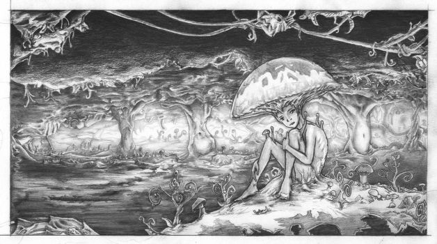 Fungi Girl in Witch Forest by Primeric-AD