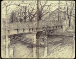 Sketchbook - Lunch by the canal by keiross