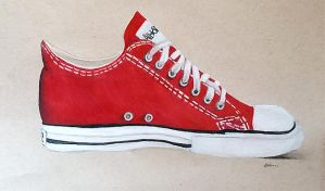 Converse Shoe (Drawing) by Kaitlin73