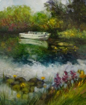Plein Air Study- Lone Boat by tonjasell