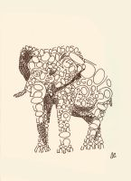 Animal typography - Elephant by techitch34