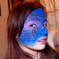 nightime facepaint with jewels by studioexperiment