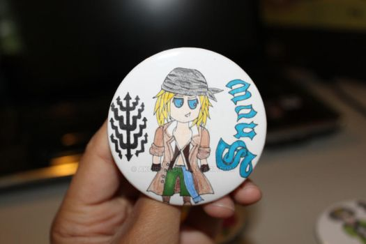 FFXIII Snow Button by Akcire29