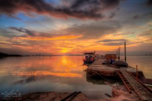 Sunrise of Dove Jetty, Penang - The dock 3 by fighteden