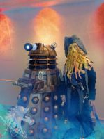 Davy and a Dalek by oceans-inferno