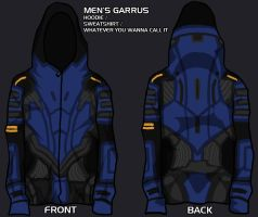 garrus hoodie  - give me your input! by lupodirosso