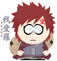 15000 Hits - South Park Gaara by Dosu