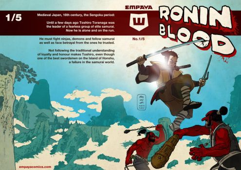 Ronin Blood, Cover to issue 01 by martinplsko