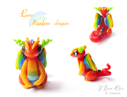 Leno, Rainbow dragon 2 by rosepeonie